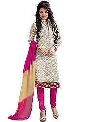 RJ white & Pink Unstich Dress