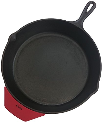 Silicone Hot Handle Holder ( Assist ) Potholder for Cast Iron Skillets, Pans, Cookware - Sleeve Grip, Handle Cover, Red (Cast Iron Cover compare prices)