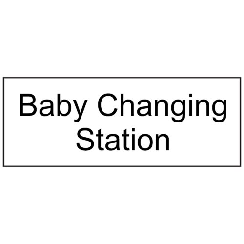 Compliancesigns Engraved Plastic Unisex / Family / Assisted Sign, 8 X 3 White front-128438
