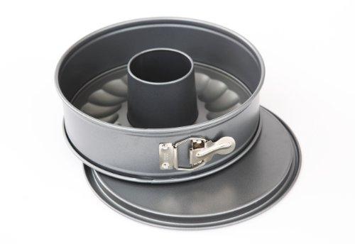 Kaiser Bakeware Homebake 10-Inch Non-Stick Springform with 2 Bases