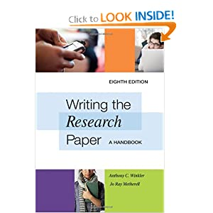 Writing the Research Paper: A Handbook 1