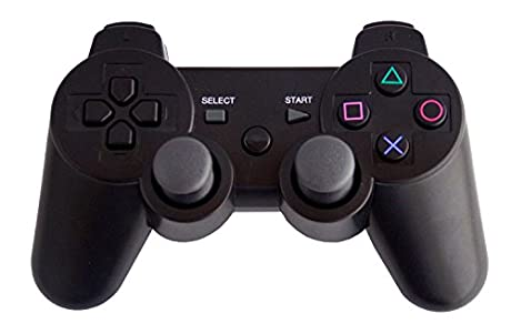 PlayStation3対応 互換品 有線専用 アナログスティック コントローラー ブラック 振動機能対応