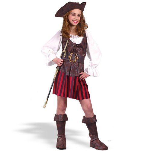 High Seas Buccaneer Girl Kids Costume