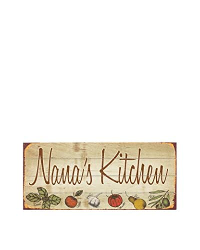 Nana's Kitchen - Vegetables Wood Wall Décor, Red/Beige