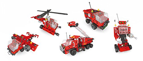 399 Piece Red Battery (not included) Powered 5-in-1 Creative Building Blocks Set - Build a Robot, Helicopter, Airplane, and Trucks! (Garbage Robot compare prices)