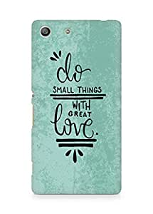 AMEZ do great things with love Back Cover For Sony Xperia M5