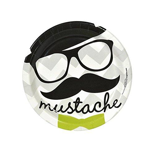 Mustache Man Dessert Plates (8) - 1