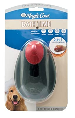 Four Paws Magic Coat Dog Grooming Shampoo 2-In-1 Brush and Dispenser