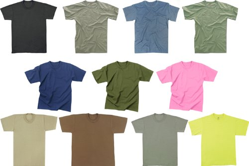 Solid Color Army Military T-Shirts - Import It All f29f93a79a6