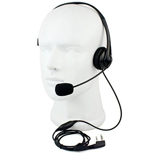 Retevis Overhead Earpiece Boom Microphone Noise Cancelling Headphone for KENWOOD Retevis BAOFENG 2 Way Radio (1 Pack)