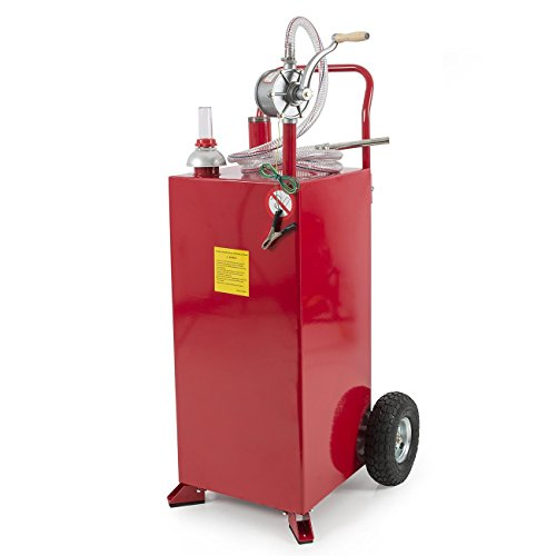 ARKSEN 30 Gallon Portable Fuel Transfer Gas Can Caddy Storage Tank - Red (Gas Can For Atv compare prices)