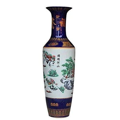 waist-drum-type-floor-vase-of-underglaze-pastel-and-blue-white-glazed-porcelain-jewelled-palace-in-e
