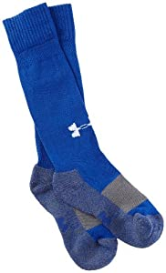 Under Armour Baseball Over the Calf Socks, Royal, Youth Large