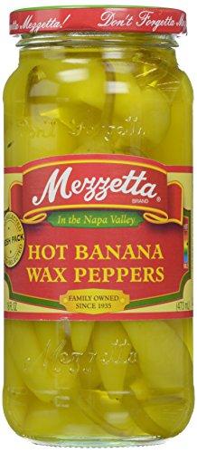 Mezzetta Hot Banana Peppers, 16 oz (Mezzetta Hot Banana Wax Peppers compare prices)