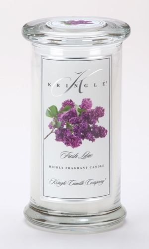FRESH LILAC Large Classic 95 Hour Apothecary Jar Candle by Kringle Candles