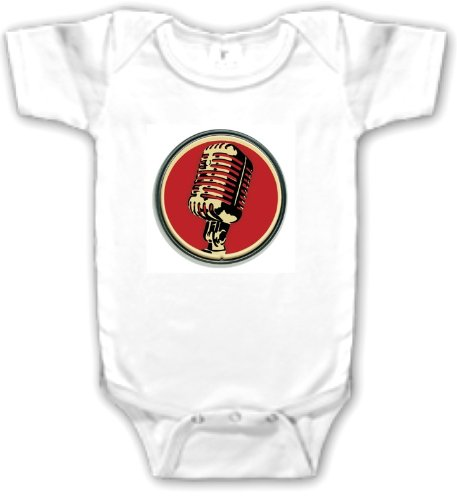 Vintage Microphone One-Piece Baby Shirt/Bodysuit (6-12 Months)