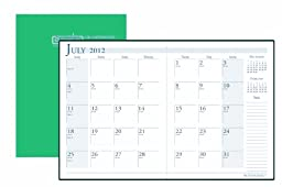House of Doolittle 14 Month Academic Economy Planner July 2012 to August 2013, 7 x 10 Inches with Bright Green Leatherette Cover Recycled, Made in USA (HOD26109)