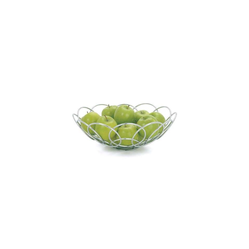 Torre & Tagus Spiral Chrome Fruit Basket
