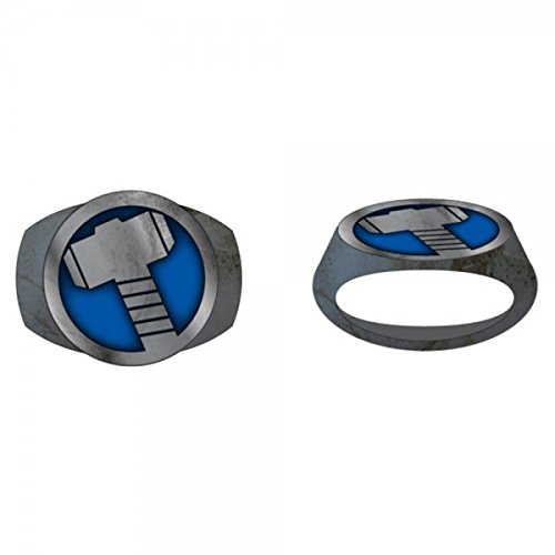 Marvel Thor Hammer Brushed Nickel Ring | 9.5 - 1