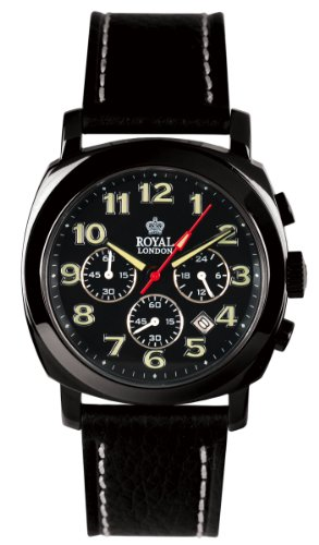 Royal London Men's Black Pvd Plated Chronograph Watch 40070-03