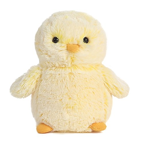 "1 X PomPom Yellow Chick 6"" by Aurora"