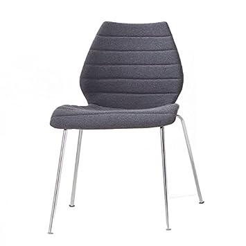 Kartell Maui Soft Sessel, Plastik, grau, 56 x 85 x 55 cm