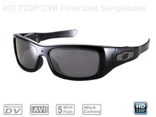 MV-8GBP: i.Trek MEGASight 3 Polarized Sport Sunglasses with built-in High Definition 720P Video recorder and still picture camera (5 Mega Pixels, 8GB Capacity)