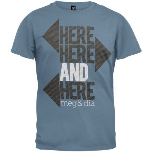 Old Glory Mens Meg & Dia - Directional Soft T-Shirt / Light Blue - X-Small Light Blue