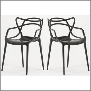 Kartell - Kartell masters competencia de maestros 2 sillas masters by philippe starck