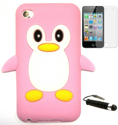PENGUIN SILICONE CASE FOR APPLE IPOD TOUCH 4 4th generation