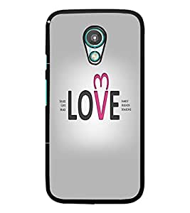 PrintDhaba Quote D-5546 Back Case Cover for MOTOROLA MOTO G2 (Multi-Coloured)