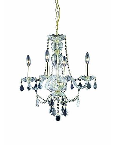Crystal Lighting Giselle 4-Light Chandelier, Gold