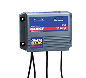 Guest 2613A Charge Pro Series Marine Battery Charger (12 24-Volt, 15-Amps 5 5 5,... by Guest
