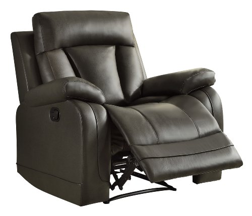 Home Elegance 8500Gry-1 Ackerman Recliner Chair, Grey Bonded Leather front-676011