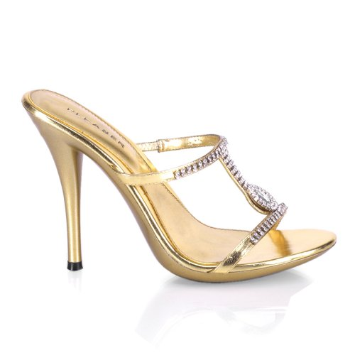 ECLAIR-03, 4 3/4  Stiletto Heel Rhinestone Mini-Platform Slide by Pleaser in 3 Colors