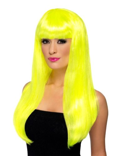 Smiffy'S Babelicious Wig, Neon Yellow, One Size