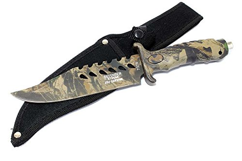 """10.5"""" Fixed Blade Camouflage Hunting Knife Stainless Steel"""