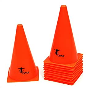 Cintz Marker Cones (Set of 10), 9-Inch, Orange