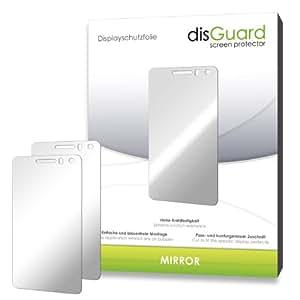 2 x disGuard Mirror Spiegel-Displayschutzfolie für Huawei Ascend G615 / G-615 - Displayschutz vollverspiegelt und hartbeschichtet! PREMIUM QUALITÄT - Made in Germany