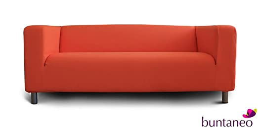 buntaneo bezug passend f r ikea klippan 2er sofa coral rose. Black Bedroom Furniture Sets. Home Design Ideas