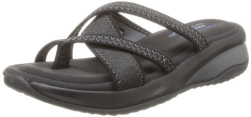 Skechers Cali Women's Promotes-Excellence Platform Sandal,Black/Charcoal,8 M US