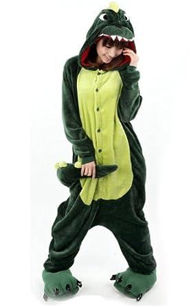 Ninimour- Animal Pyjamas Halloween Costume Onesie (M, dinosaur)
