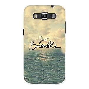 Enticing Just Breath Multicolor Back Case Cover for Galaxy Grand Quattro