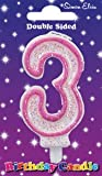 Simon Elvin Age 3 Third Birthday Cake Candle Number 3 Cake Decoration (Se)