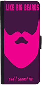Snoogg Big Beards Cannot Lie 2919 Designer Protective Phone Flip Case Cover For Vibe K4 Note