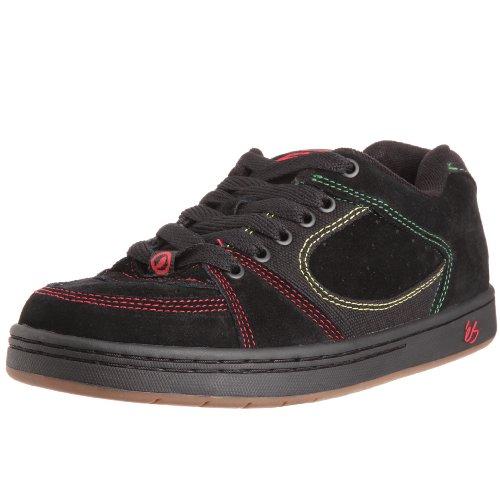 eS Men's Accel Nyjah Skateboard Sneaker,Black/Green/Gold,5 M US