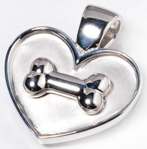 Lisa Welch Sterling Silver Bone Heart Disc Pendant