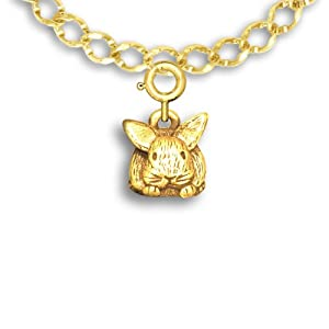14k Gold Bunny Charm for Charm Bracelet by The Magic Zoo