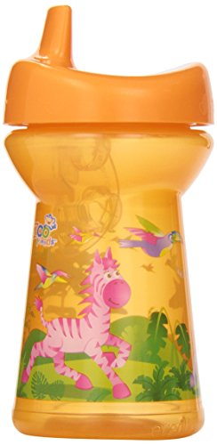 Evenflo Feeding Zoo Friends Triple-Flo Sippy Tumbler Cups, Blue/Green/Orange