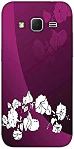 Snoogg Abstract Vector Wallpaper Of Floral Themes In Gradient Purple Solid Sn...